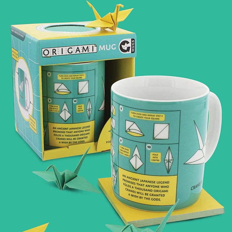 Origami Paper Crane Coffee Mug by Ginger Fox