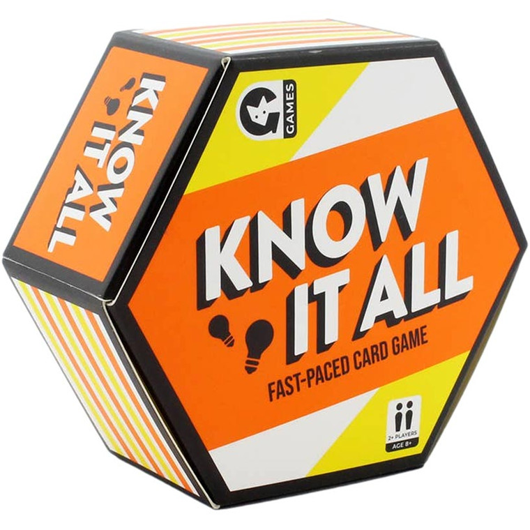 Know It All Fast-Paced Trivia Card Game