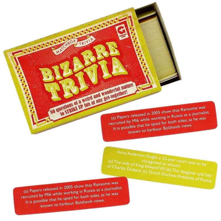 Bizarre Trivia Matchbox Trivia