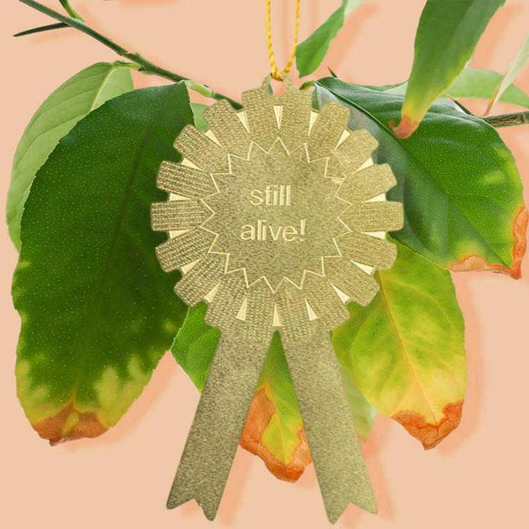 Still Alive Plant Award Ornament