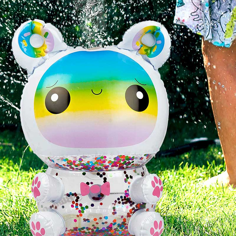 Cute Kid's Yard Sprinkler - Rainbow Kawaii Bear