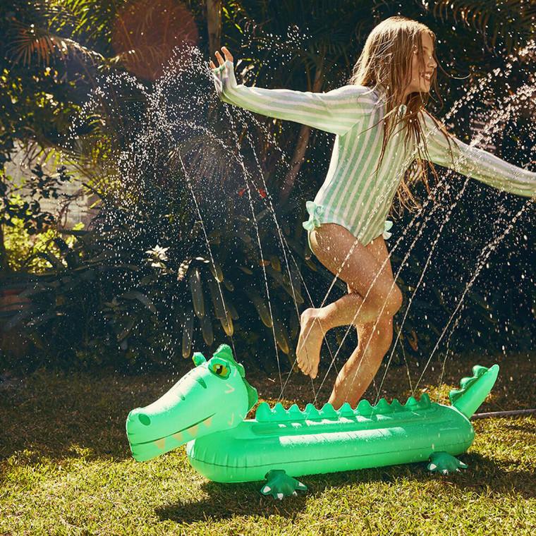 Inflatable Crocodile Kid's Water Sprinkler