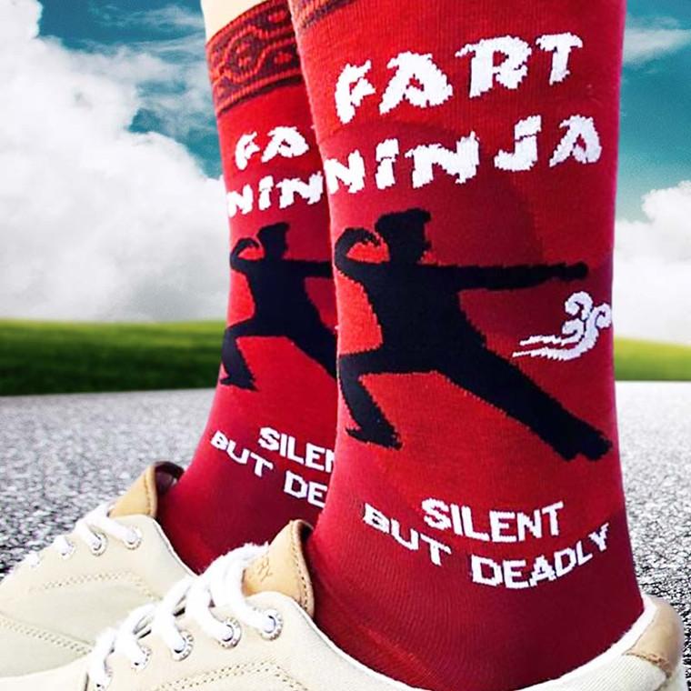 Fart Ninja Silent But Deadly Men's Socks