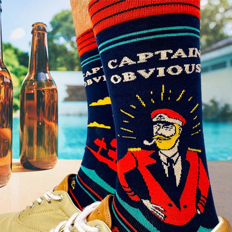 Captain Obvious Funny Men's Socks