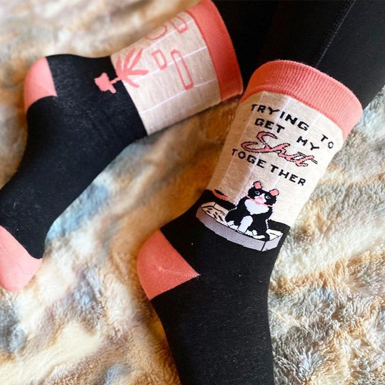 Cat Lady Socks - Trying to Get My Shit Together