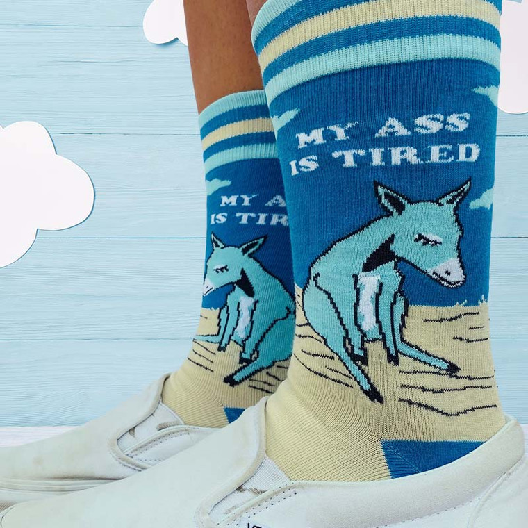 My Ass Is Tired Donkey Socks