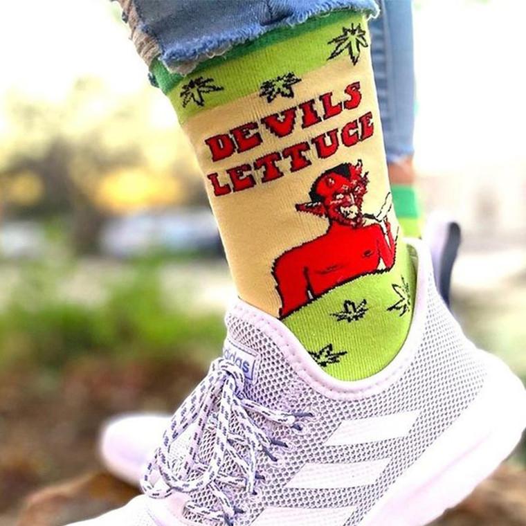 Devil's Lettuce Fun Weed Socks