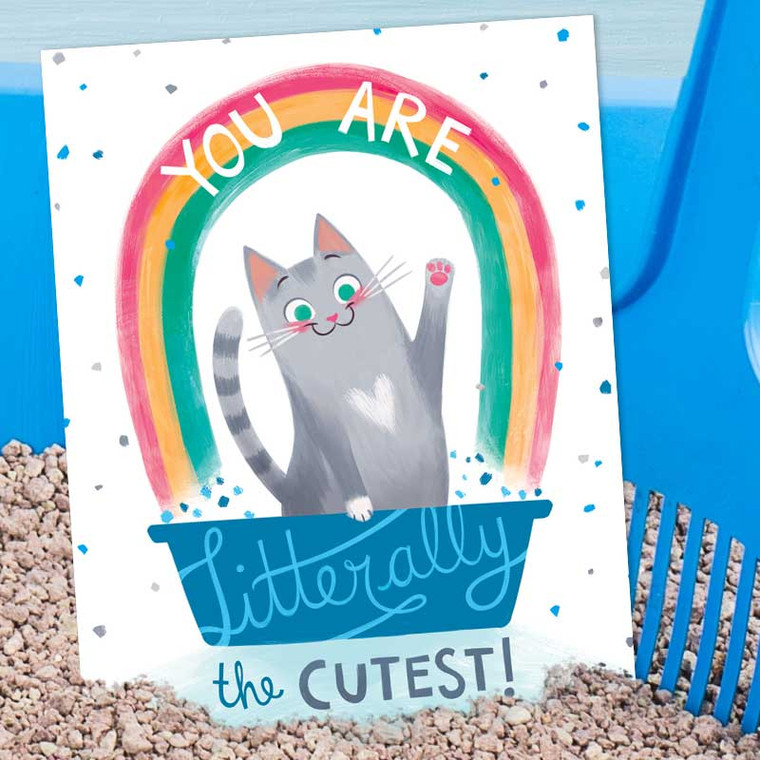 Litter-ally The Cutest (and best) Kitty Cat Litter Greeting Card