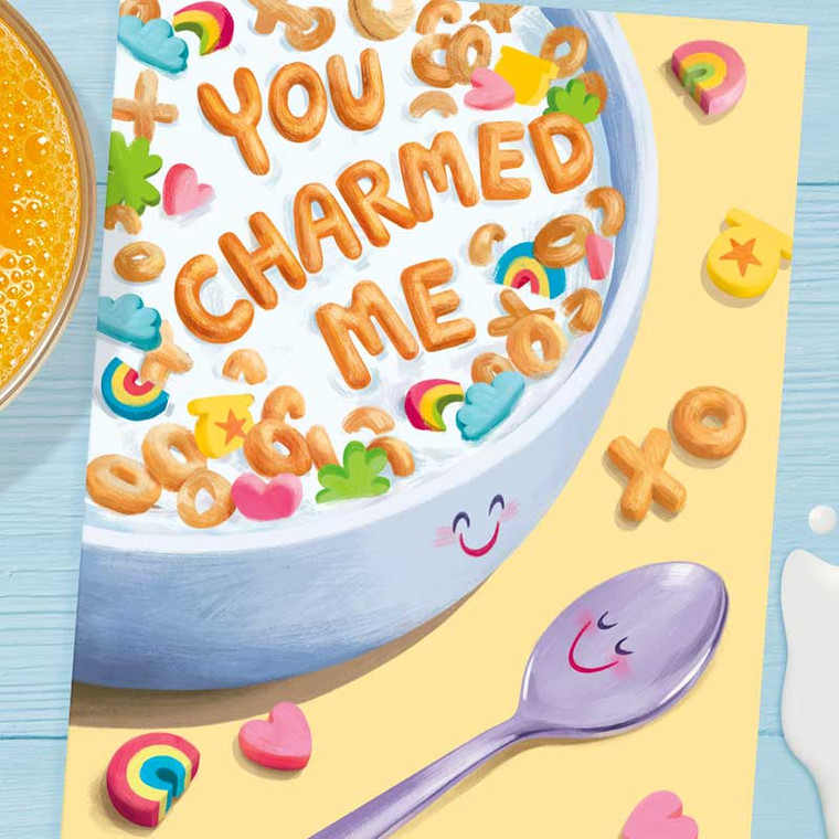 Cereal Lover - You Charmed Me Funny Greeting Card