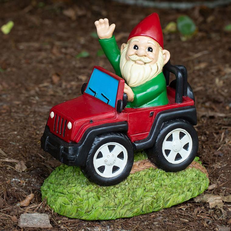 Funny Jeep Gnome