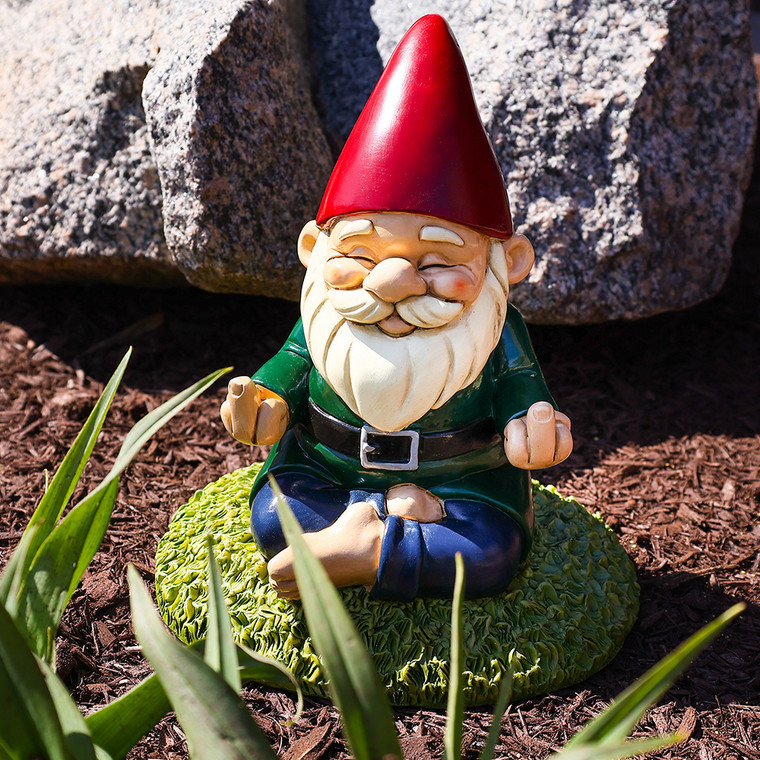 Middle Finger Namaste Funny Garden Gnome