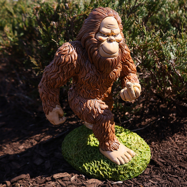 Middle Finger Sasquatch Garden Gnome