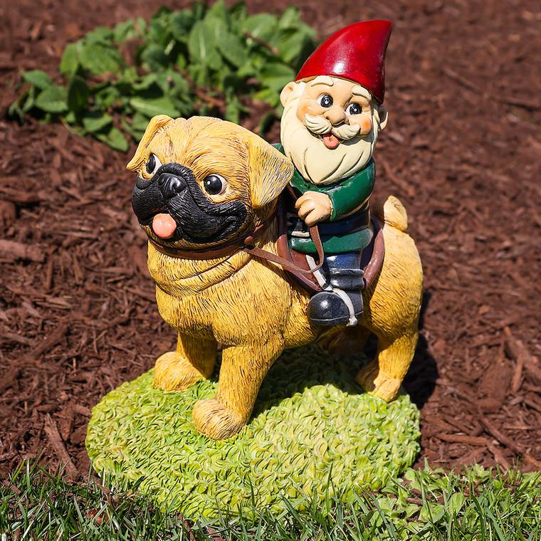 Pug Garden Gnome