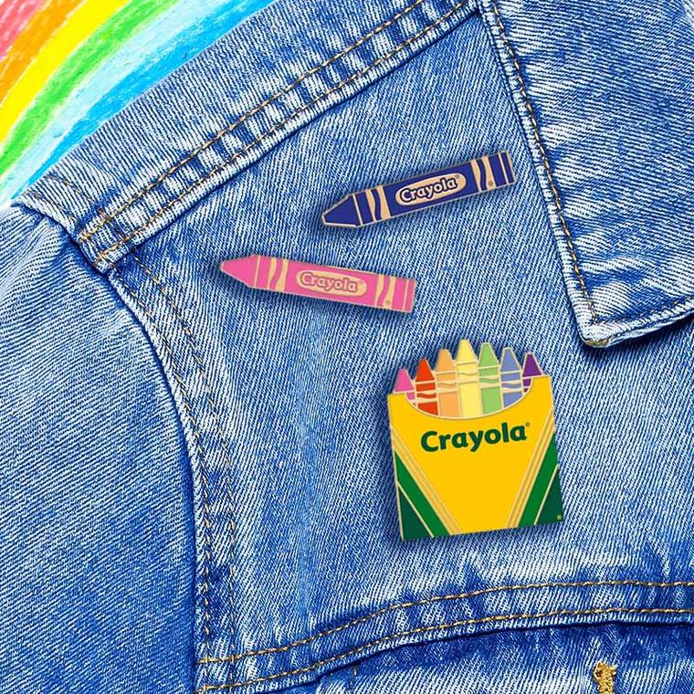 Official Crayola Crayons Pin Set
