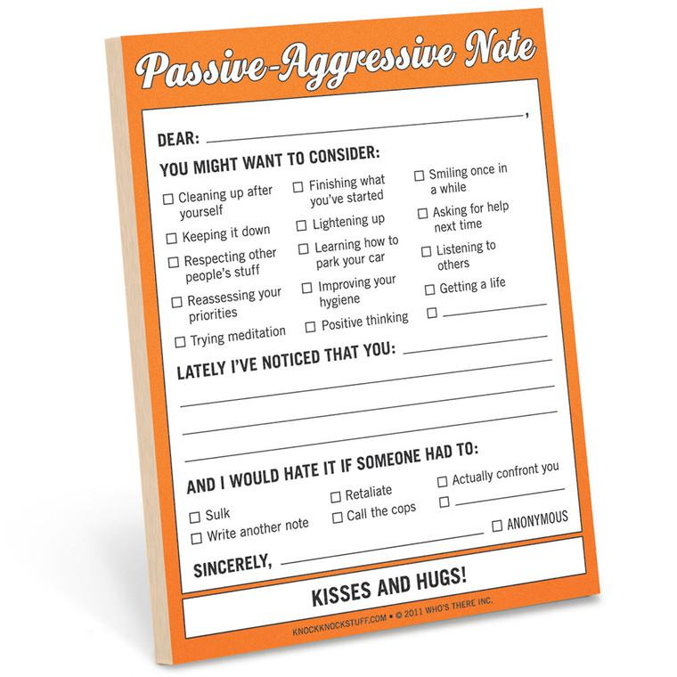 Knock Knock Passive-Aggressive Nifty Notes