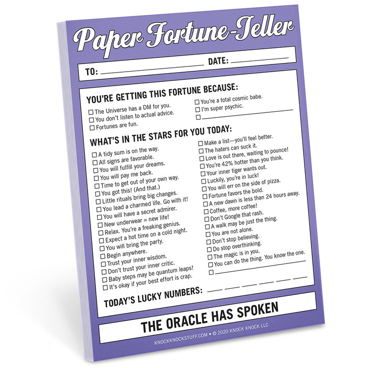 Paper Fortune-Teller Nifty Note