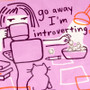 Go Away Introverting Zipper Pouch