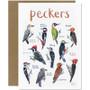 Peckers Greetings Card