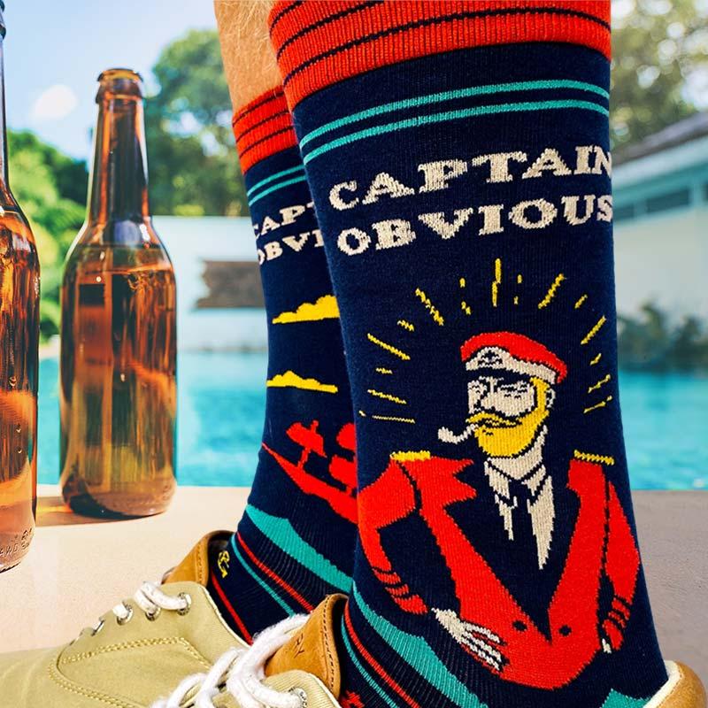 Captain Obvious Men\u2019s Crew Socks