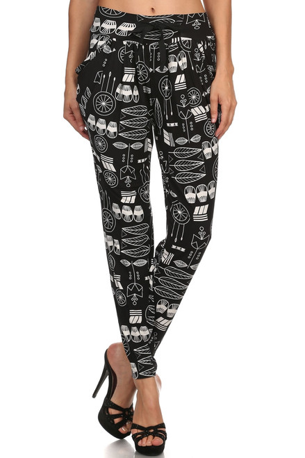 Abstract Feather Printed Jogger