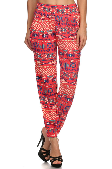Abstract Tribal printed Harem Pants