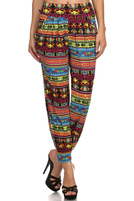 Animal Aztec Printed Harem Pants