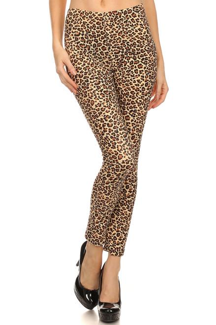 Brown Leopard Printed Leggings