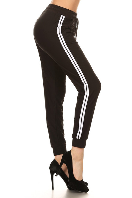 Black Double Stripe JOGGER