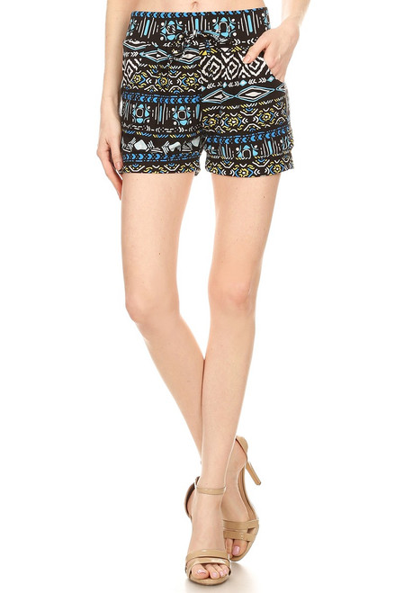 BLUE AZTEC SHORTS