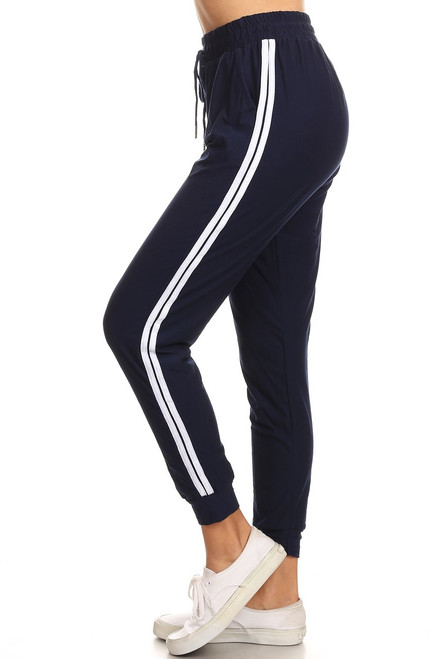Navy Double Stripe Jogger