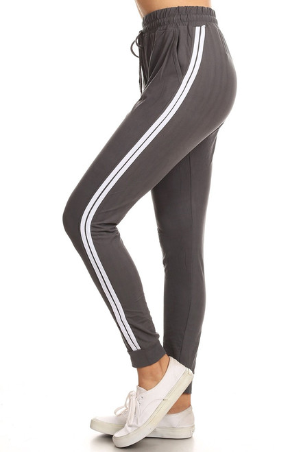 Charcoal Double Stripe Jogger
