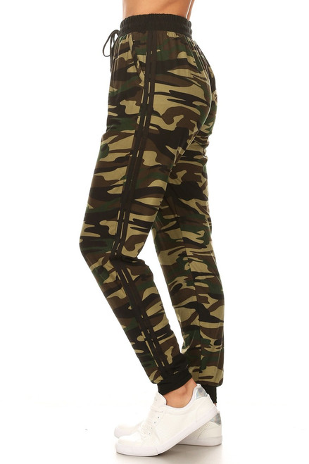Camouflage Double Stripe Jogger
