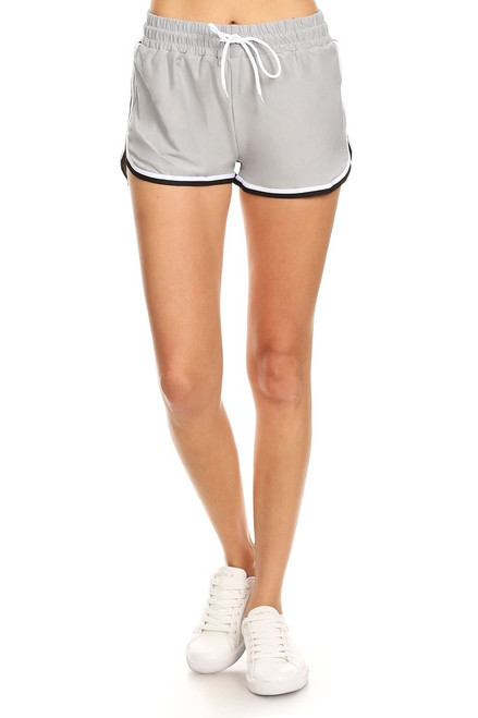 Gray Side Tape Shorts