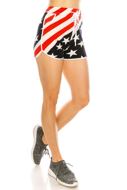 US Flag Dolphin Shorts