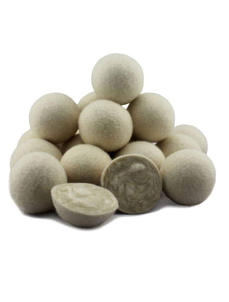 B2B Naturals Wool Dryer Balls are the clean, natural way to soften your laundry.  Made from 100% New Zealand Wool.