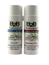 Our 100% natural, solid lotion stick is carefully formulated with just the right mix of butters and oils to leave your skin soft, smooth, and hydrated throughout the day. This long-lasting and highly concentrated lotion soothes and nourishes dry skin and will quickly become your favorite lotion.  Packaged in a convenient twist-up tube.