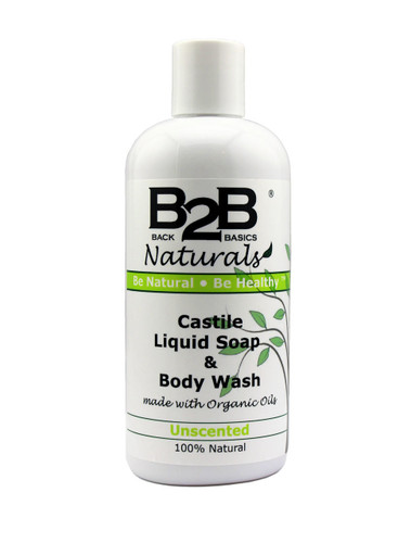 Our Unscented Liquid Castile works great for skin of all ages, from birth through the golden years. It is completely fragrance-free and is a fantastic choice for anyone who needs a mild and gentle soap with no added scent.