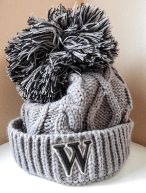 The Game Oversized Pom Pom Knit Hat