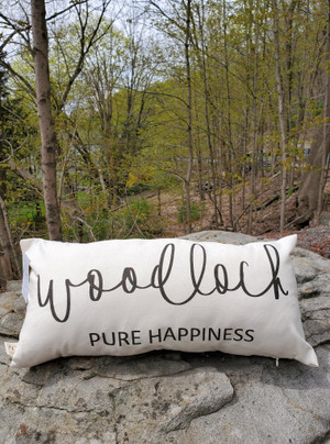 """Woodloch Pure Happiness"" Pillow"