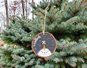 Ornament - Hand Painted Snowman