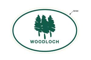 Woodloch Oval Car Magnet