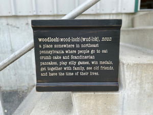 """Woodloch Definition"" Wooden Sign"