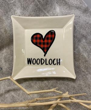 Woodloch Ceramic Trinket Tray