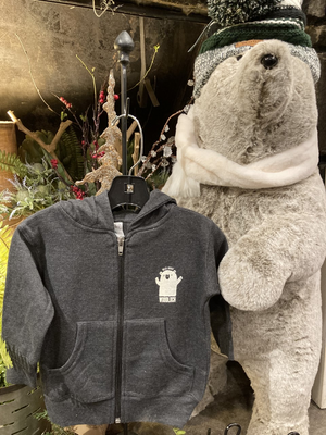 """Wild About Woodloch"" Infant Zip - Gray"