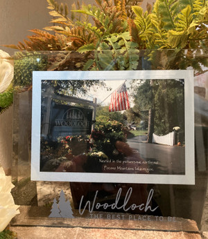 """""""Woodloch - The best place to be"""" Easel Backed Glass Frame"""