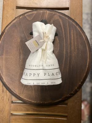 Happy Place Flour Sack Tea Towel