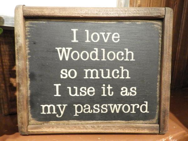 """Woodloch """"Password"""" Wood Sign"""