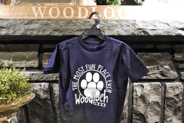 The Most Fun Place Ever Pawprint Toddler Tee - Navy