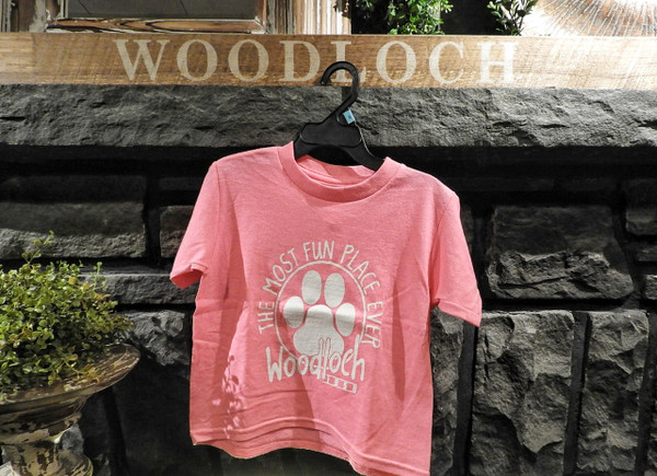 The Most Fun Place Ever Pawprint Toddler Tee - Pink