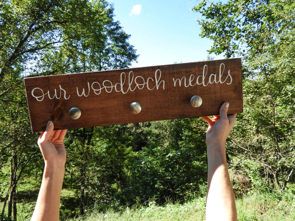 "Dirt Road Gallery ""Our Woodloch Medals"" Hand Painted Sign"